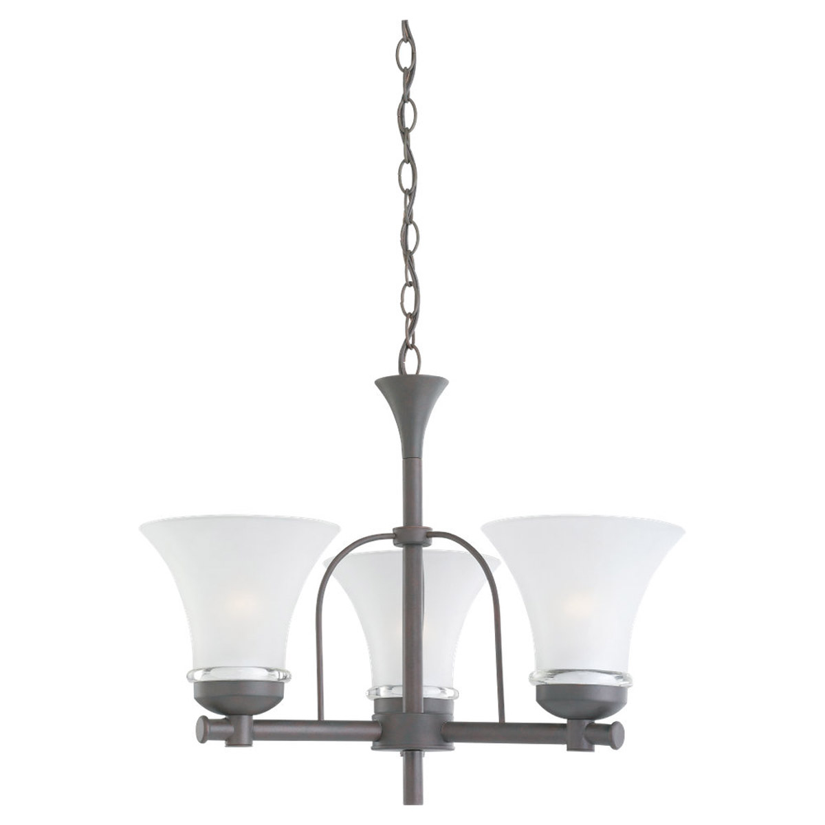 Sea Gull Lighting Newport 3 Light Fluorescent Chandelier in Misted Bronze 31282BLE-814 photo