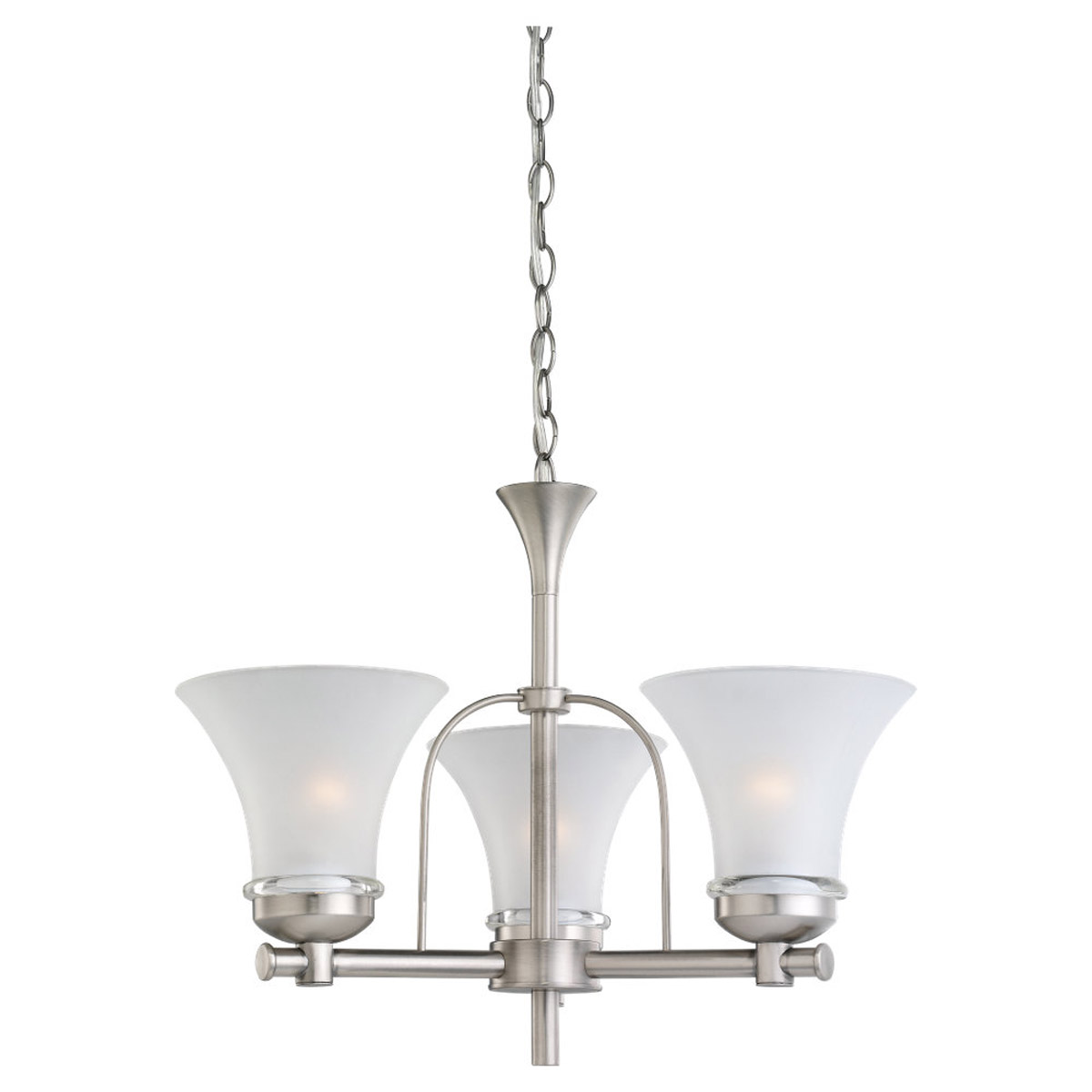 Sea Gull Lighting Newport 3 Light Fluorescent Chandelier in Antique Brushed Nickel 31282BLE-965 photo