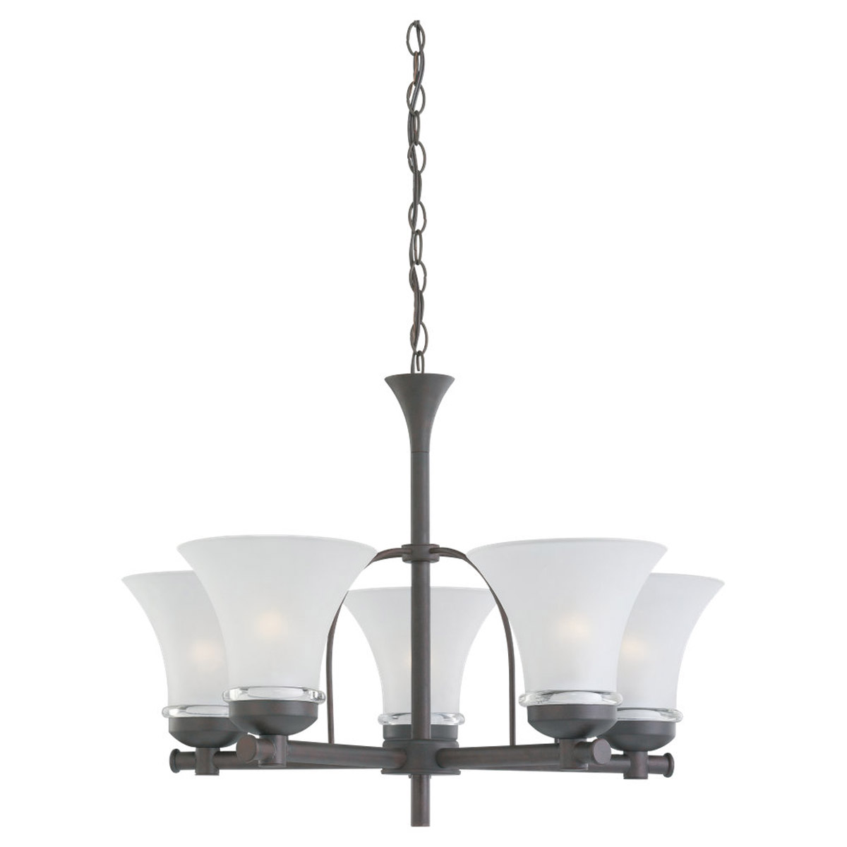 Sea Gull Lighting Newport 5 Light Chandelier in Misted Bronze 31283-814