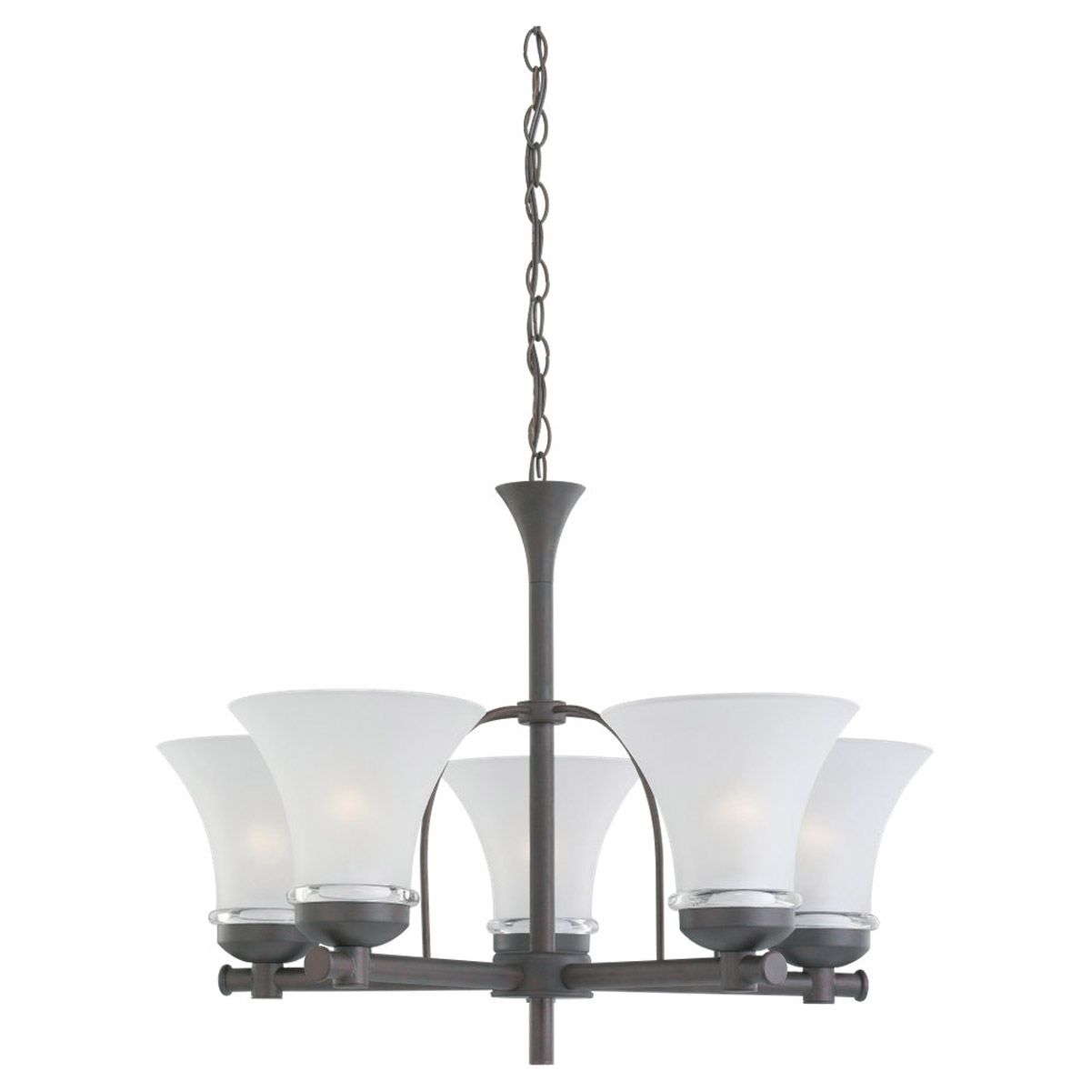 Sea Gull Lighting Newport 5 Light Fluorescent Chandelier in Misted Bronze 31283BLE-814