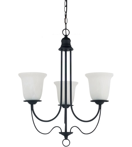 Sea Gull 31291BLE-839 Plymouth 3 Light 22 inch Blacksmith Chandelier Ceiling Light in Fluorescent photo