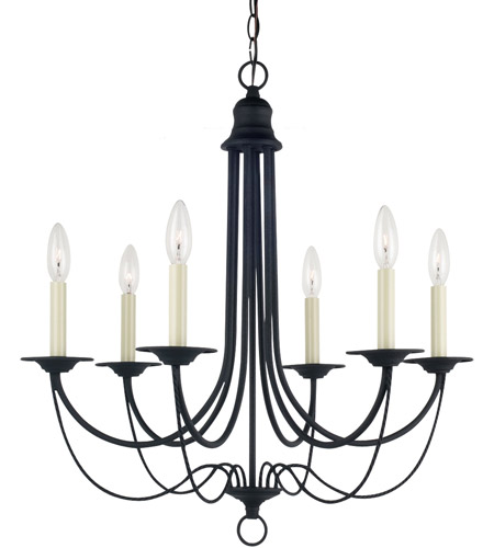 Sea Gull Lighting Plymouth 6 Light Chandelier in Blacksmith 31294-839