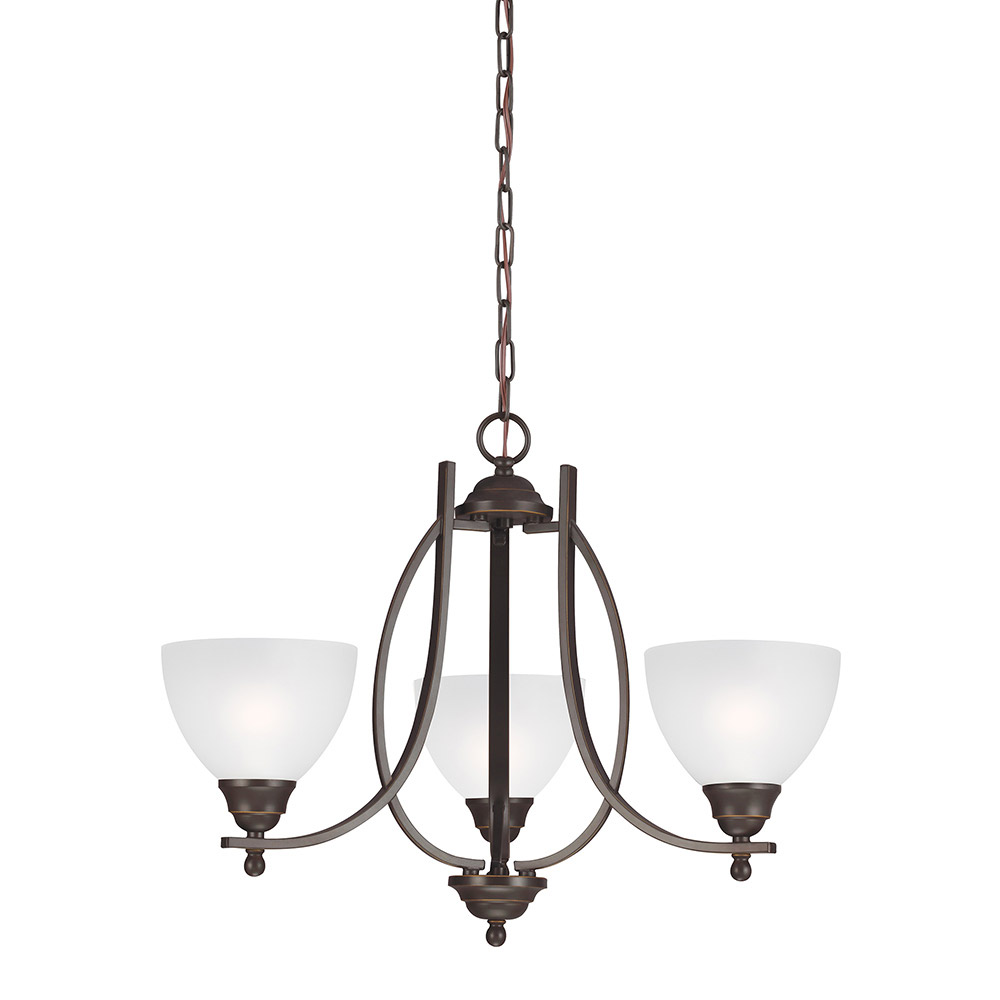 Sea Gull Vitelli 3 Light Chandelier Single-Tier in Autumn Bronze 3131403-715