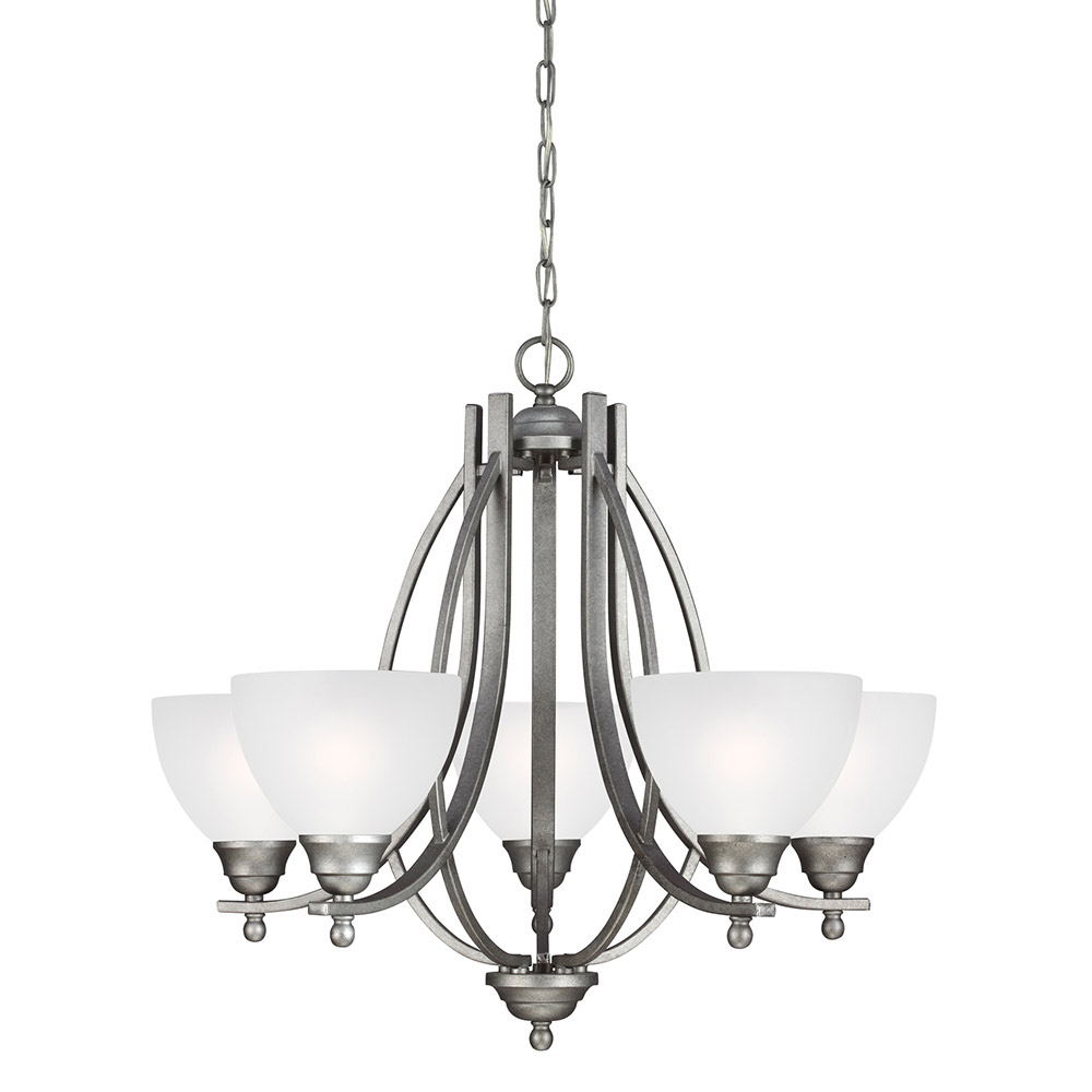Sea Gull Vitelli 5 Light Chandelier Single-Tier in Weathered Pewter 3131405BLE-57 photo