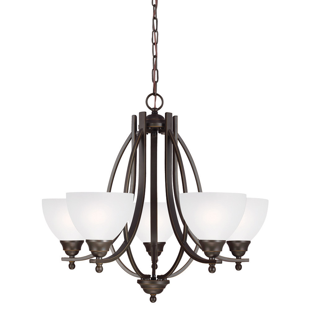 Sea Gull Vitelli 5 Light Chandelier Single-Tier in Autumn Bronze 3131405-715