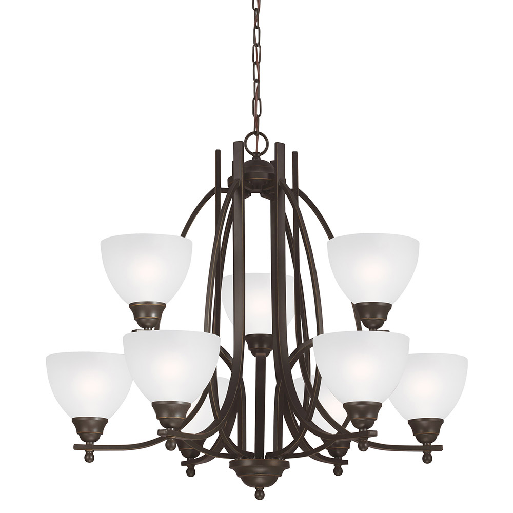 Sea Gull Vitelli 9 Light Chandelier Multi-Tier in Autumn Bronze 3131409BLE-715