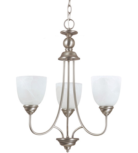 Sea Gull Lighting Lemont 3 Light Chandelier in Antique Brushed Nickel 31316-965