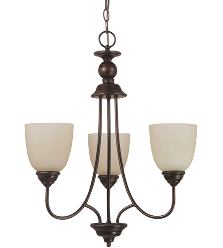 Sea Gull Lighting Lemont Fluorescent 3 Light Chandelier in Burnt Sienna 31316BLE-710