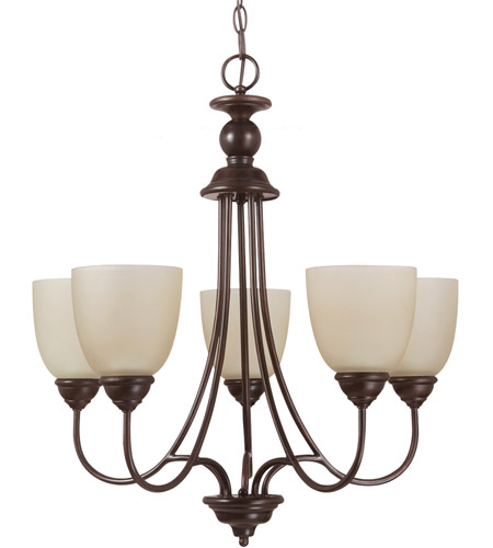 Sea Gull Lighting Lemont Fluorescent 5 Light Chandelier in Burnt Sienna 31317BLE-710