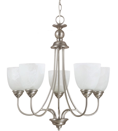 Sea Gull Lighting Lemont Fluorescent 5 Light Chandelier in Antique Brushed Nickel 31317BLE-965