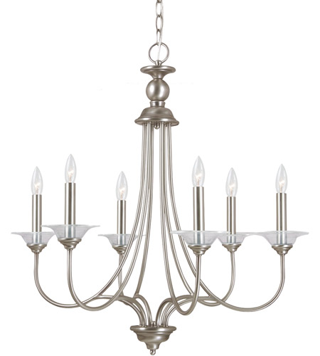 Sea Gull 31318-965 Lemont 6 Light 27 inch Antique Brushed Nickel Chandelier Ceiling Light photo