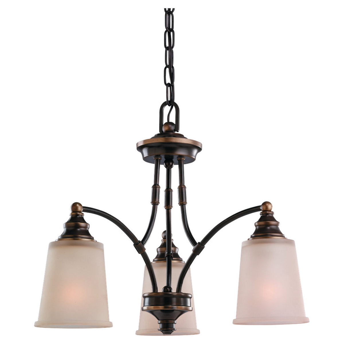 Sea Gull Lighting Warwick 3 Light Chandelier in Vintage Bronze 31330-825