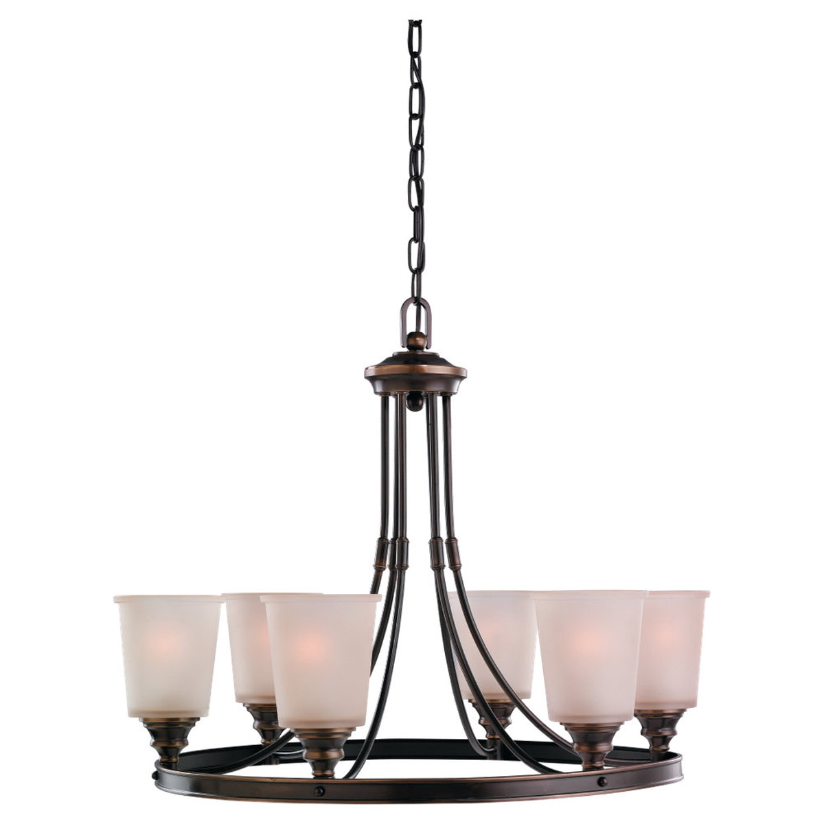 Sea Gull Lighting Warwick 6 Light Chandelier in Vintage Bronze 31331-825