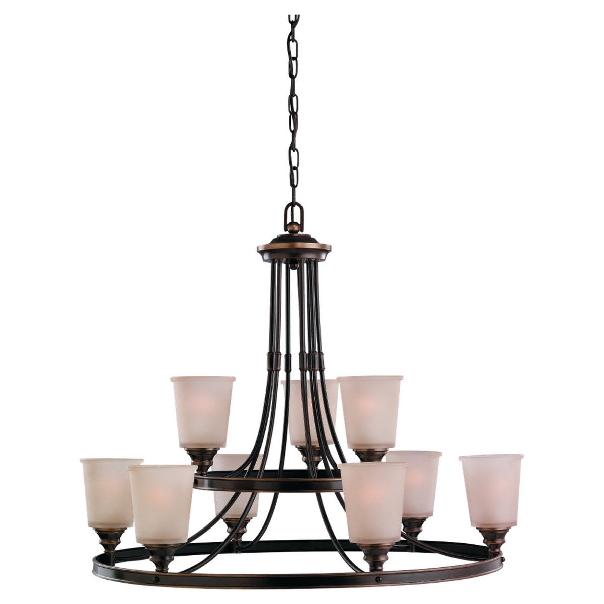 Sea Gull Lighting Warwick 9 Light Chandelier in Vintage Bronze 31332-825 photo