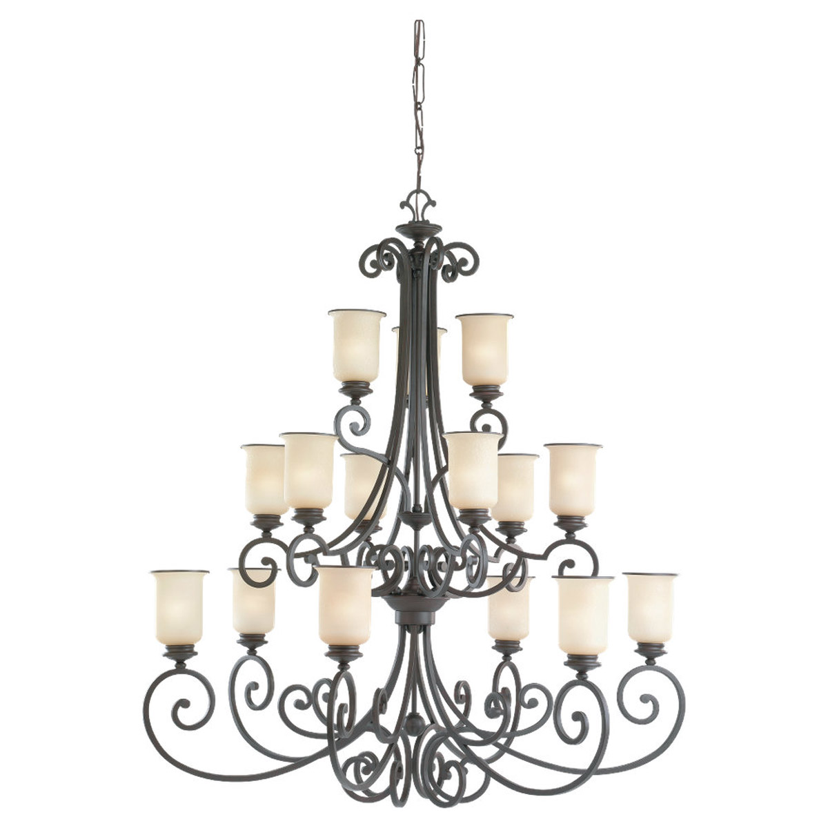 Sea Gull Lighting Acadia 15 Light Chandelier in Misted Bronze 31347-814