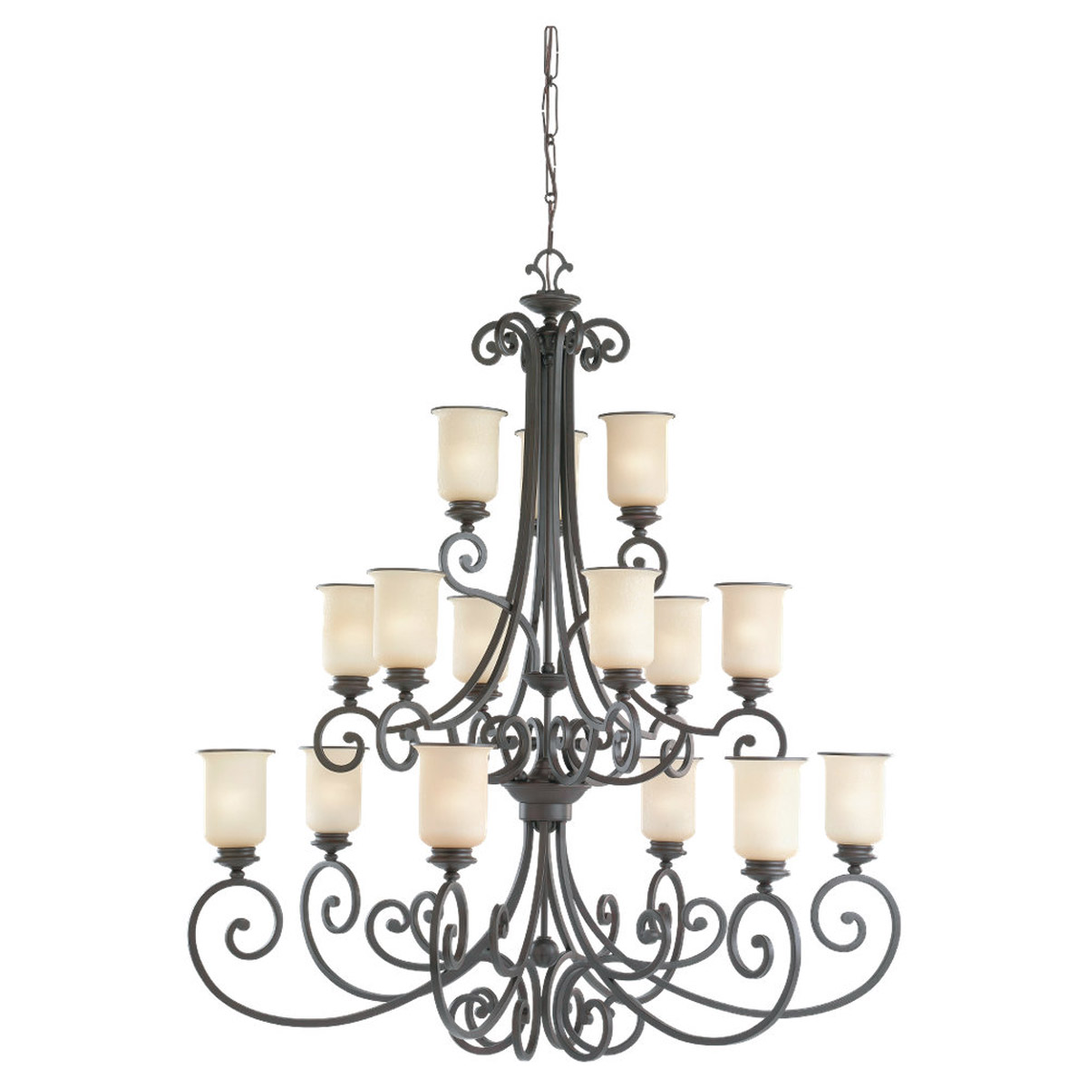 Sea Gull Lighting Acadia 15 Light Chandelier in Misted Bronze 31347BLE-814 photo