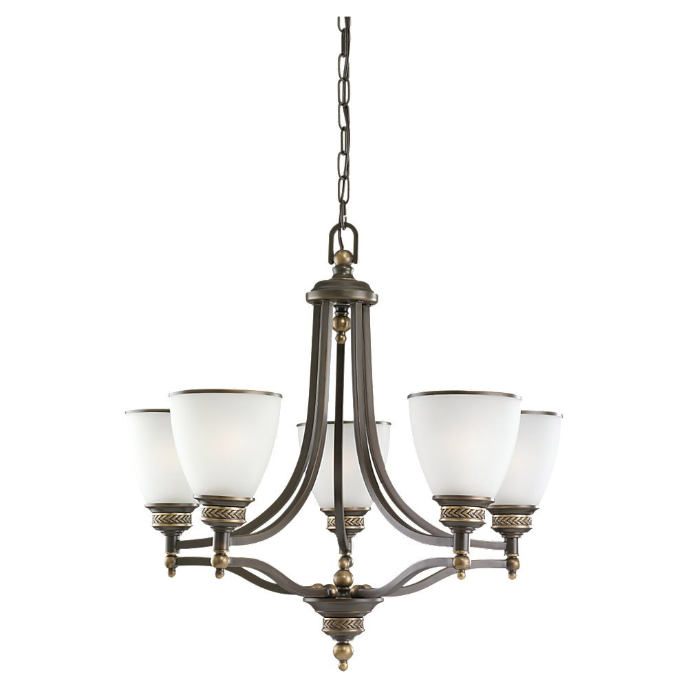 Sea Gull Lighting Laurel Leaf 5 Light Chandelier in Estate Bronze 31350-708