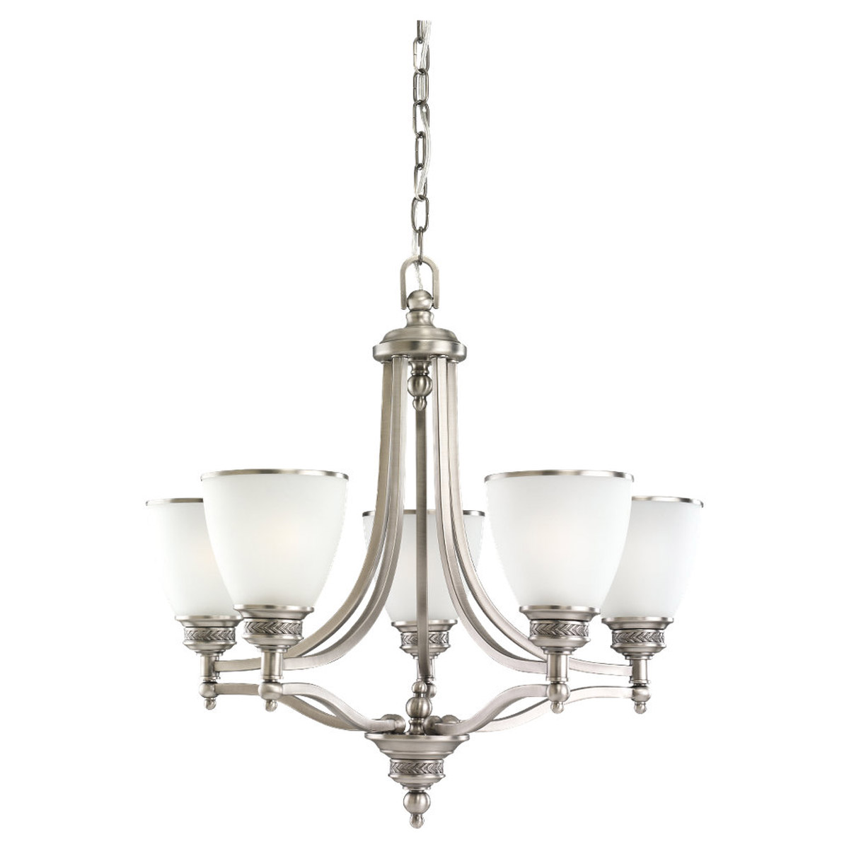 Sea Gull 31350-965 Laurel Leaf 5 Light 25 inch Antique Brushed Nickel Chandelier Ceiling Light photo