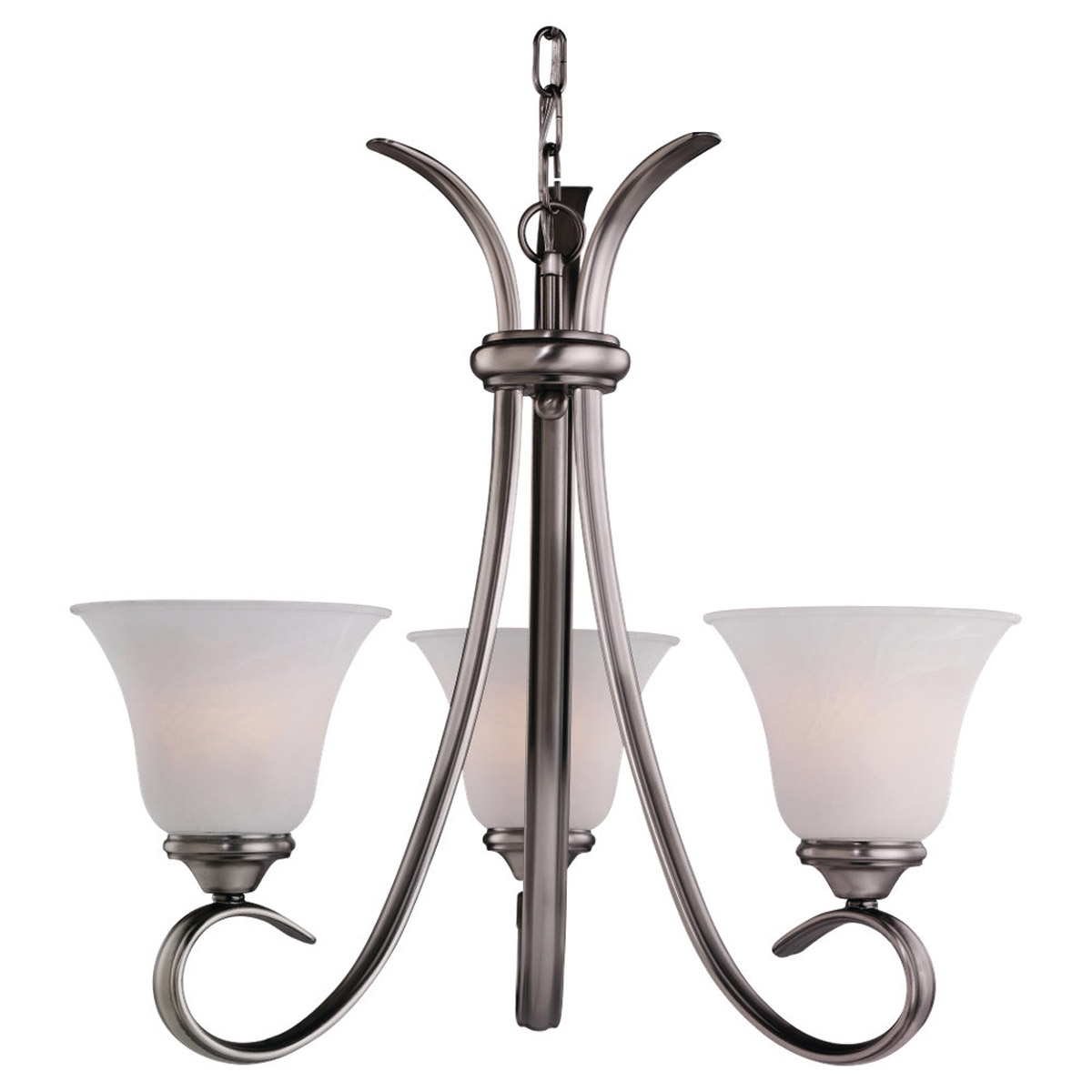 Sea Gull Lighting Rialto 3 Light Chandelier in Antique Brushed Nickel 31360-965