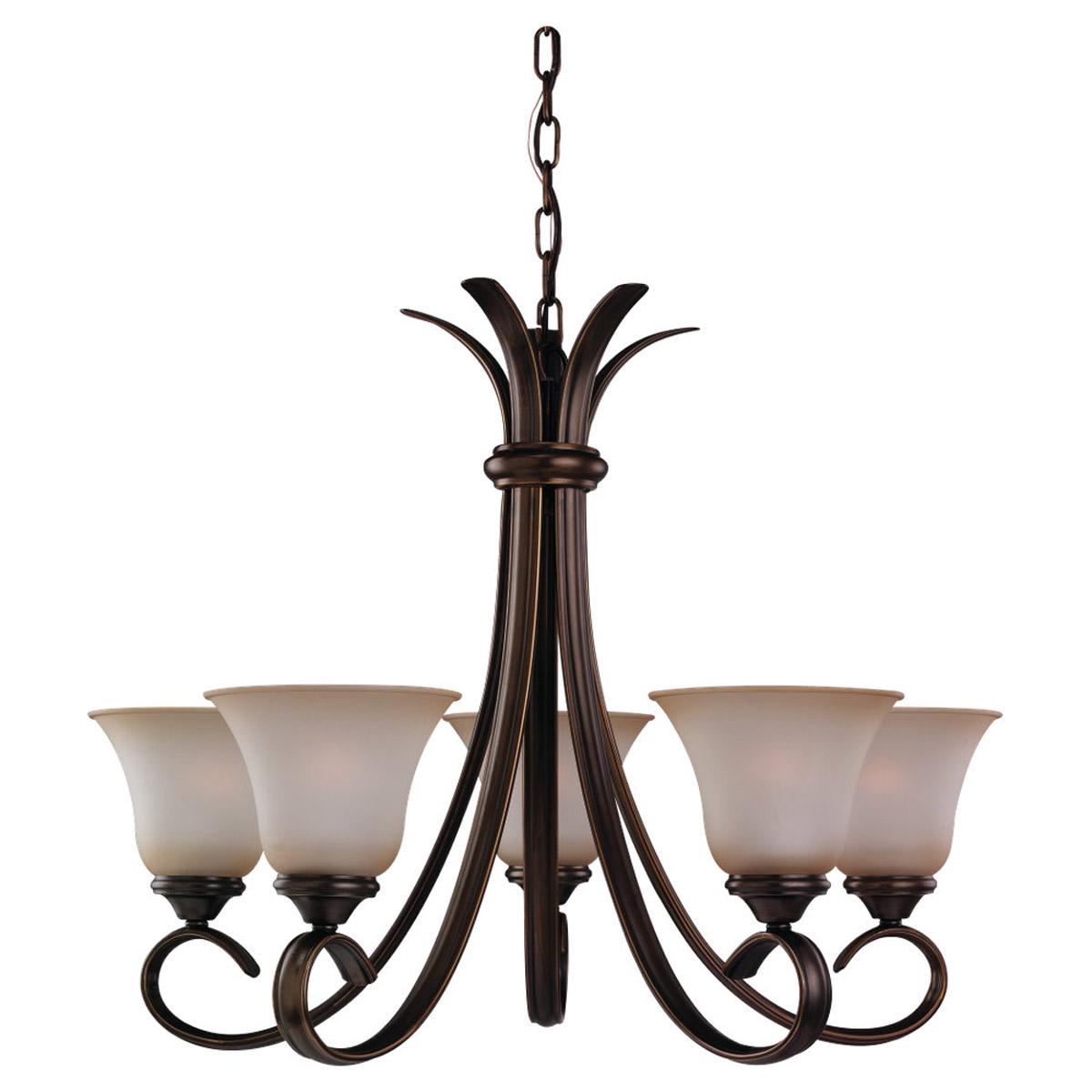 Sea Gull Lighting Rialto 5 Light Chandelier in Russet Bronze 31361-829