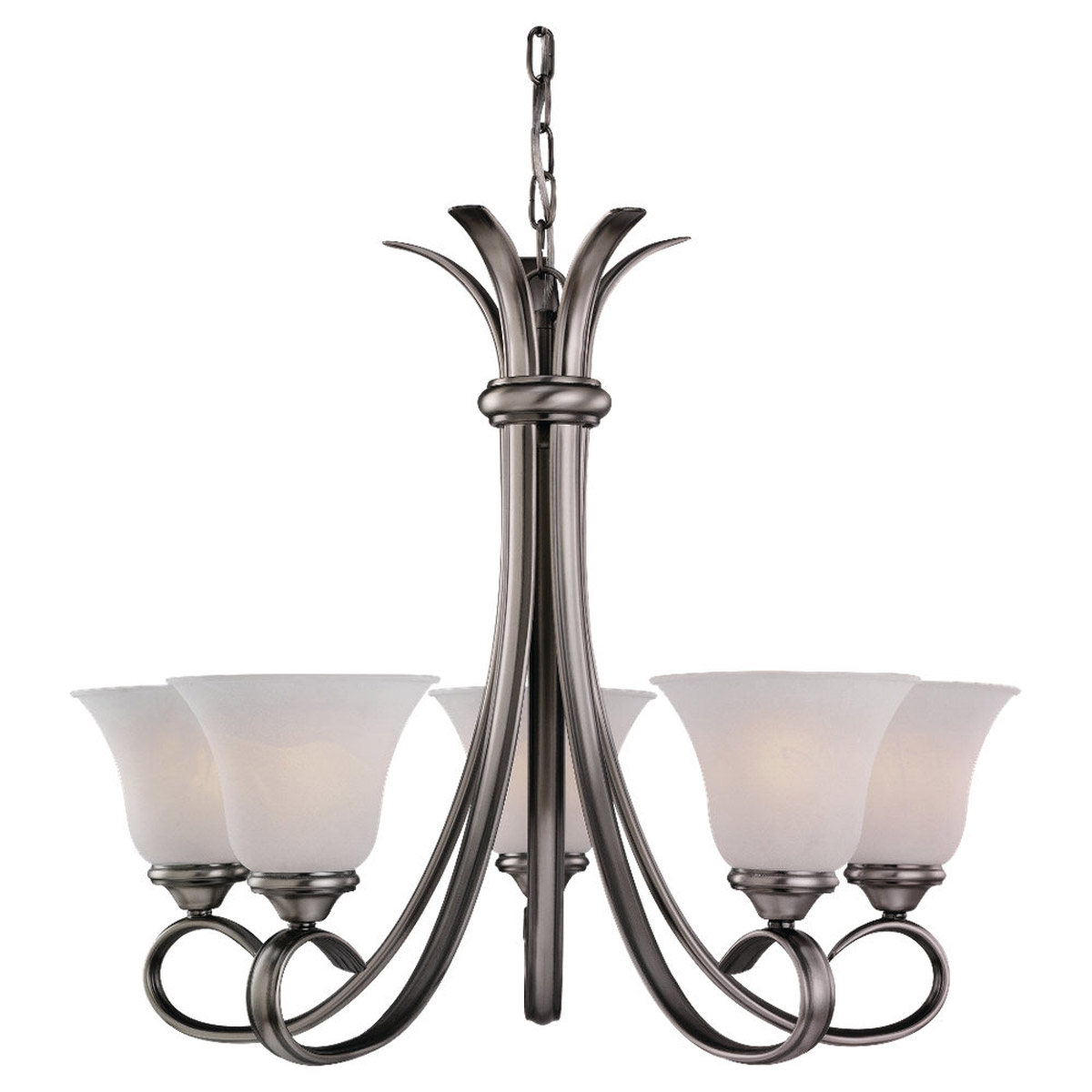 Sea Gull Lighting Rialto 5 Light Chandelier in Antique Brushed Nickel 31361-965 photo