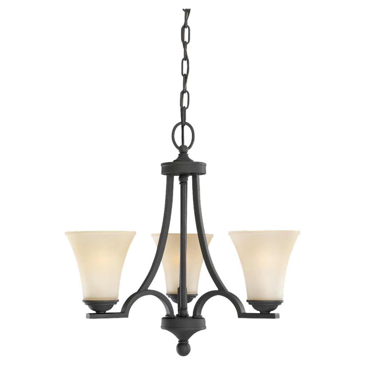 Sea Gull Somerton 3 Light Chandelier Single-Tier in Blacksmith 31375BLE-839