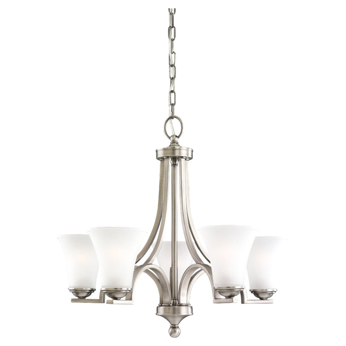 Sea Gull Lighting Somerton 5 Light Chandelier in Antique Brushed Nickel 31376-965