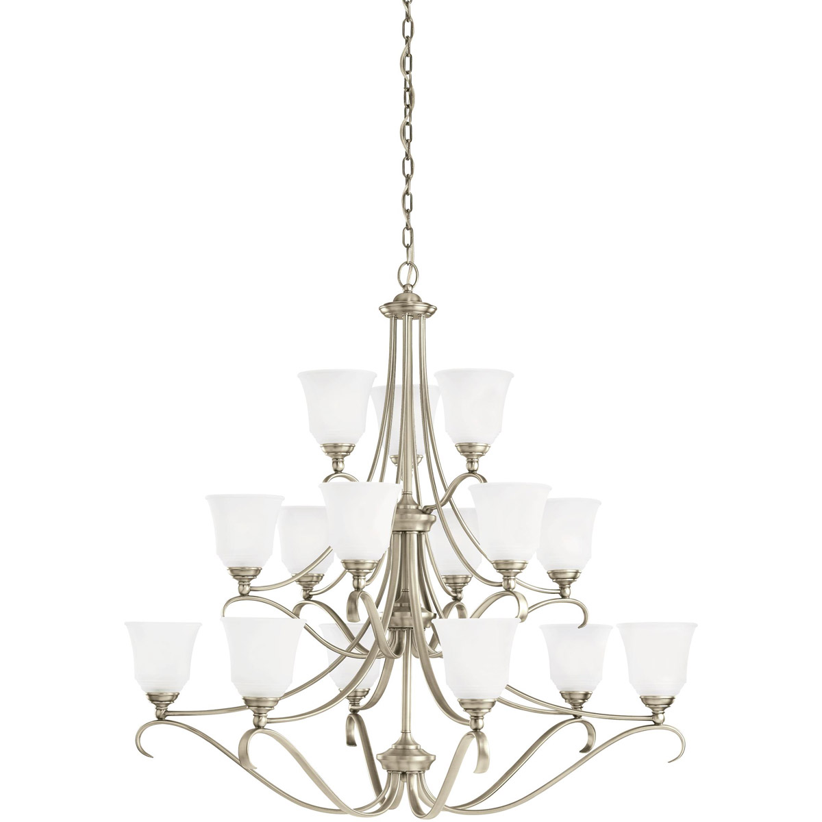 Sea Gull Lighting Parkview 15 Light Chandelier in Antique Brushed Nickel 31382-965