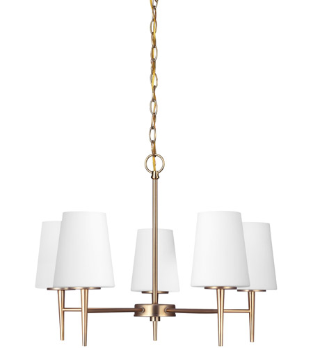 Sea Gull 3140405-848 Driscoll 5 Light 25 inch Satin Bronze Chandelier Single-Tier Ceiling Light in Standard photo