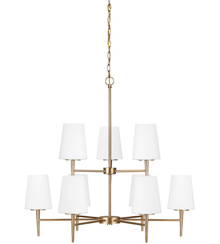 Sea Gull Driscoll 9 Light Chandelier Multi-Tier in Satin Bronze 3140409-848
