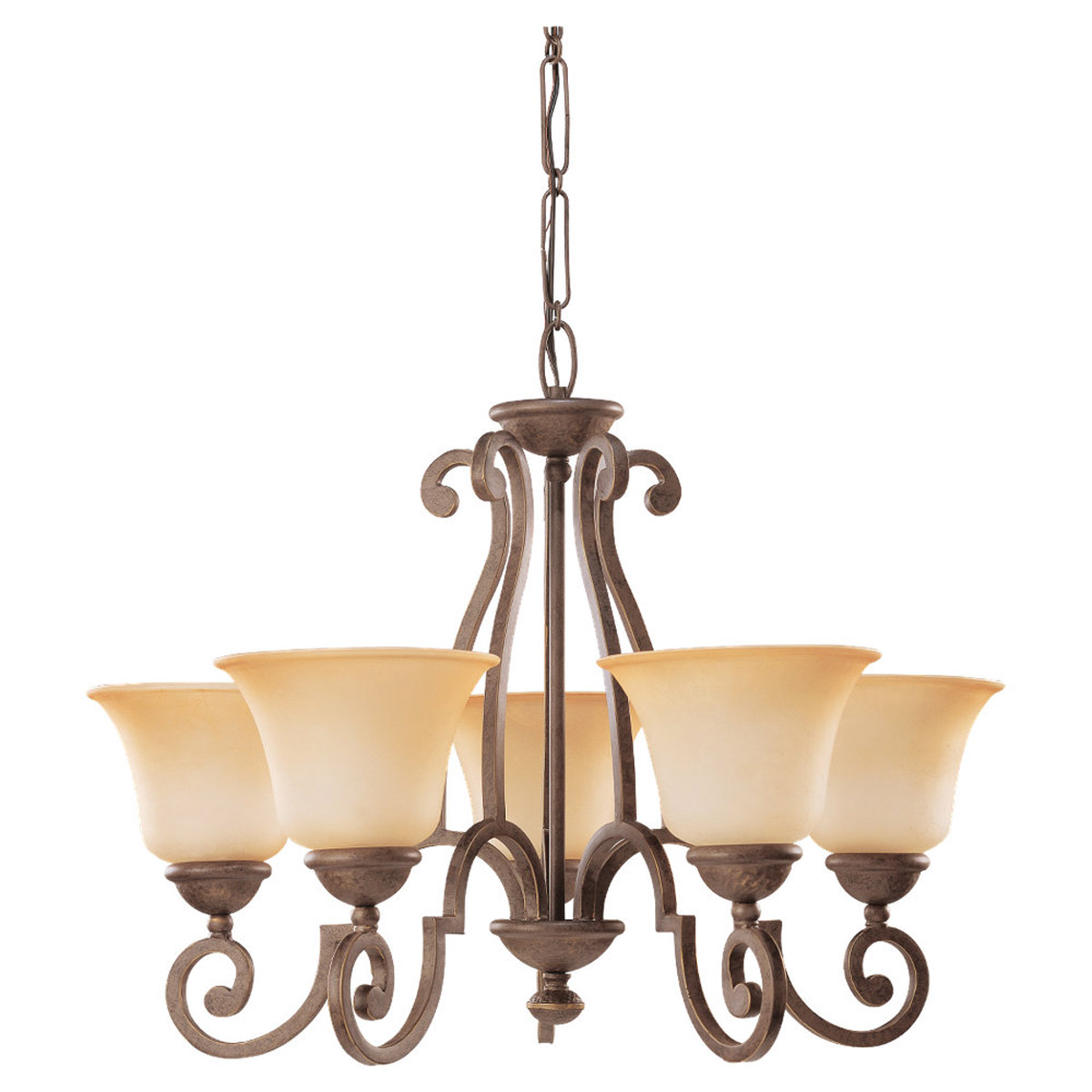 Sea Gull Lighting Brandywine 5 Light Chandelier in Antique Bronze 31431-71