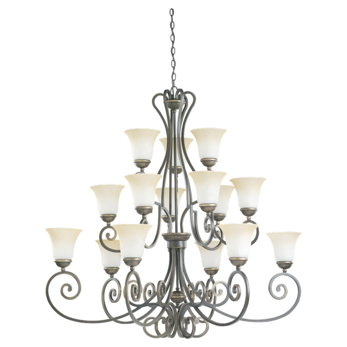 Sea Gull Lighting Brandywine 15 Light Chandelier in Antique Bronze 31433-71