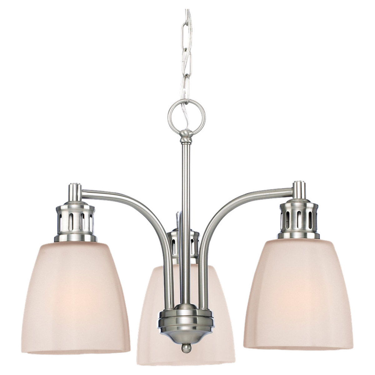 Sea Gull Lighting Century 3 Light Chandelier in Brushed Nickel 31474-962