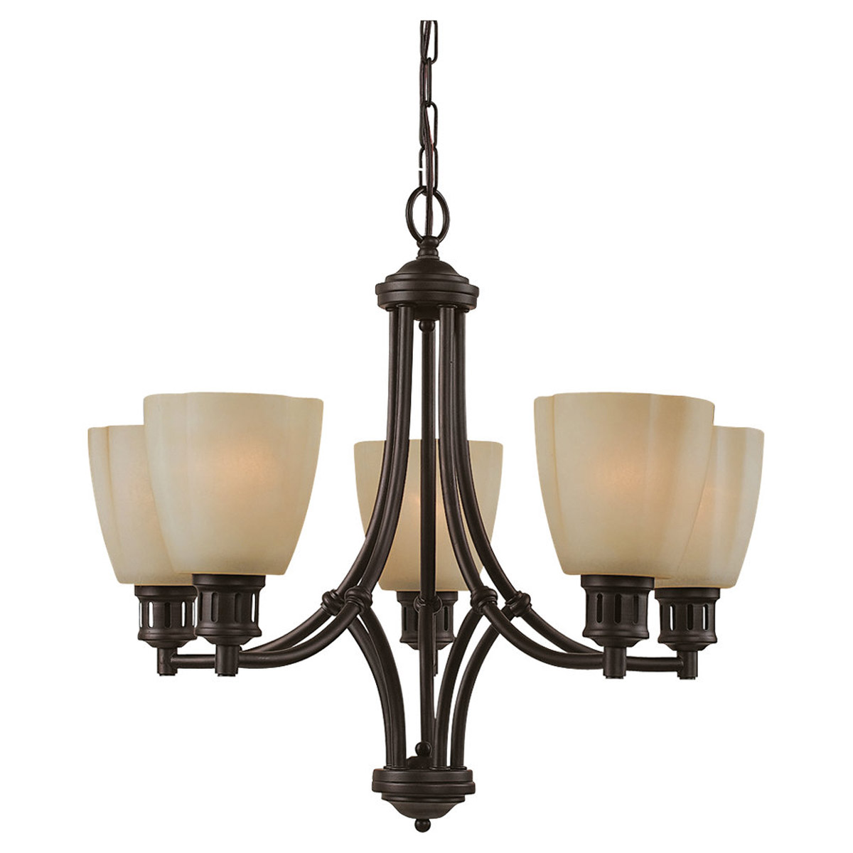 Sea Gull Lighting Century 5 Light Chandelier in Heirloom Bronze 31475-782 photo