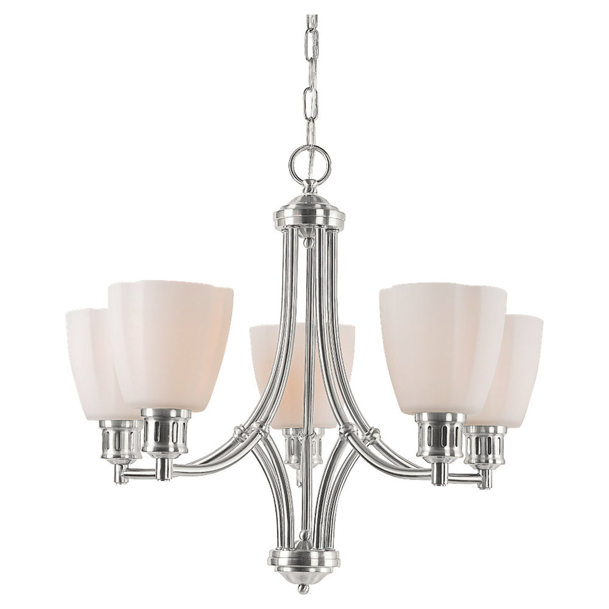 Sea Gull Lighting Century 5 Light Chandelier in Brushed Nickel 31475-962