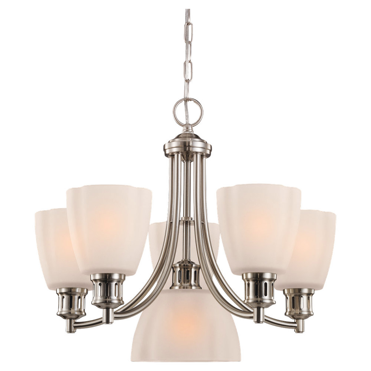 Sea Gull Lighting Century 6 Light Chandelier in Brushed Nickel 31476-962