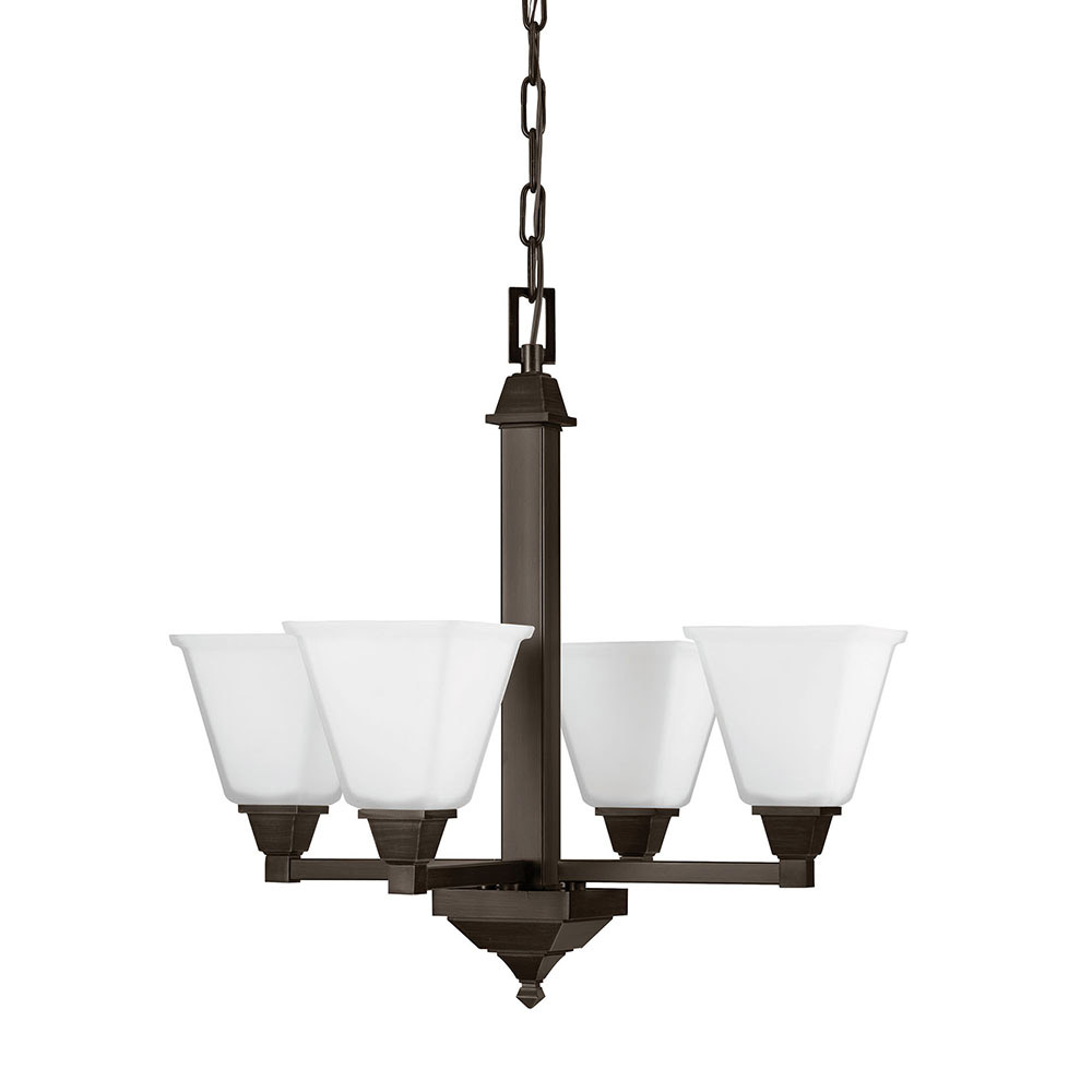 Sea Gull Denhelm 4 Light Chandelier Single-Tier in Burnt Sienna 3150404-710