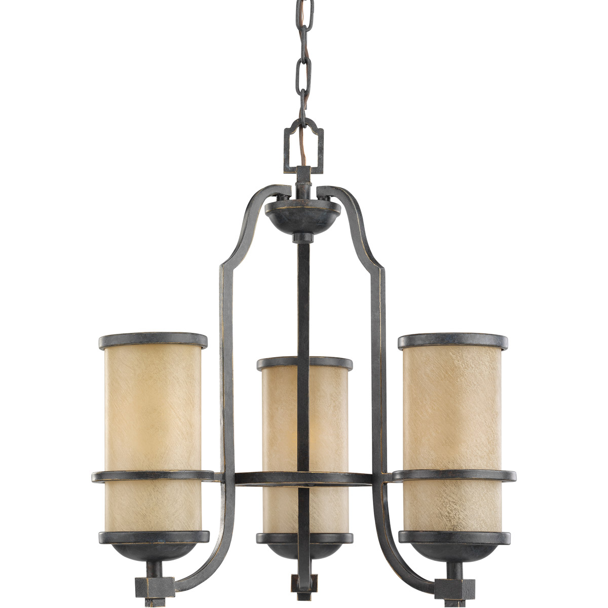 Sea Gull Lighting Roslyn 3 Light Chandelier in Flemish Bronze 31520-845 photo
