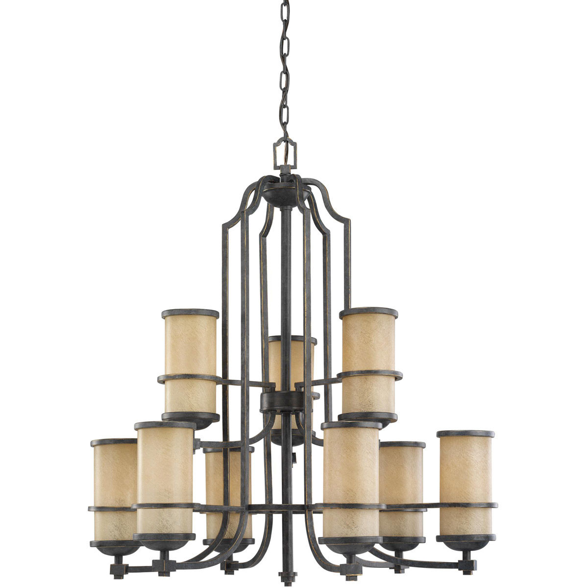 Sea Gull Lighting Roslyn 9 Light Chandelier in Flemish Bronze 31522-845 photo