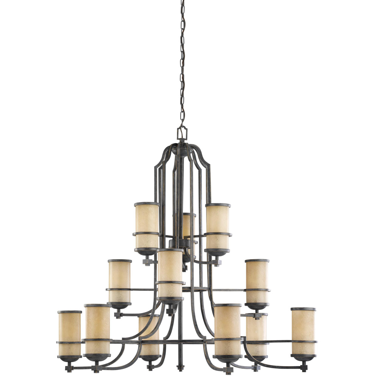 Sea Gull Roslyn 12 Light Chandelier Multi-Tier in Flemish Bronze 31523BLE-845