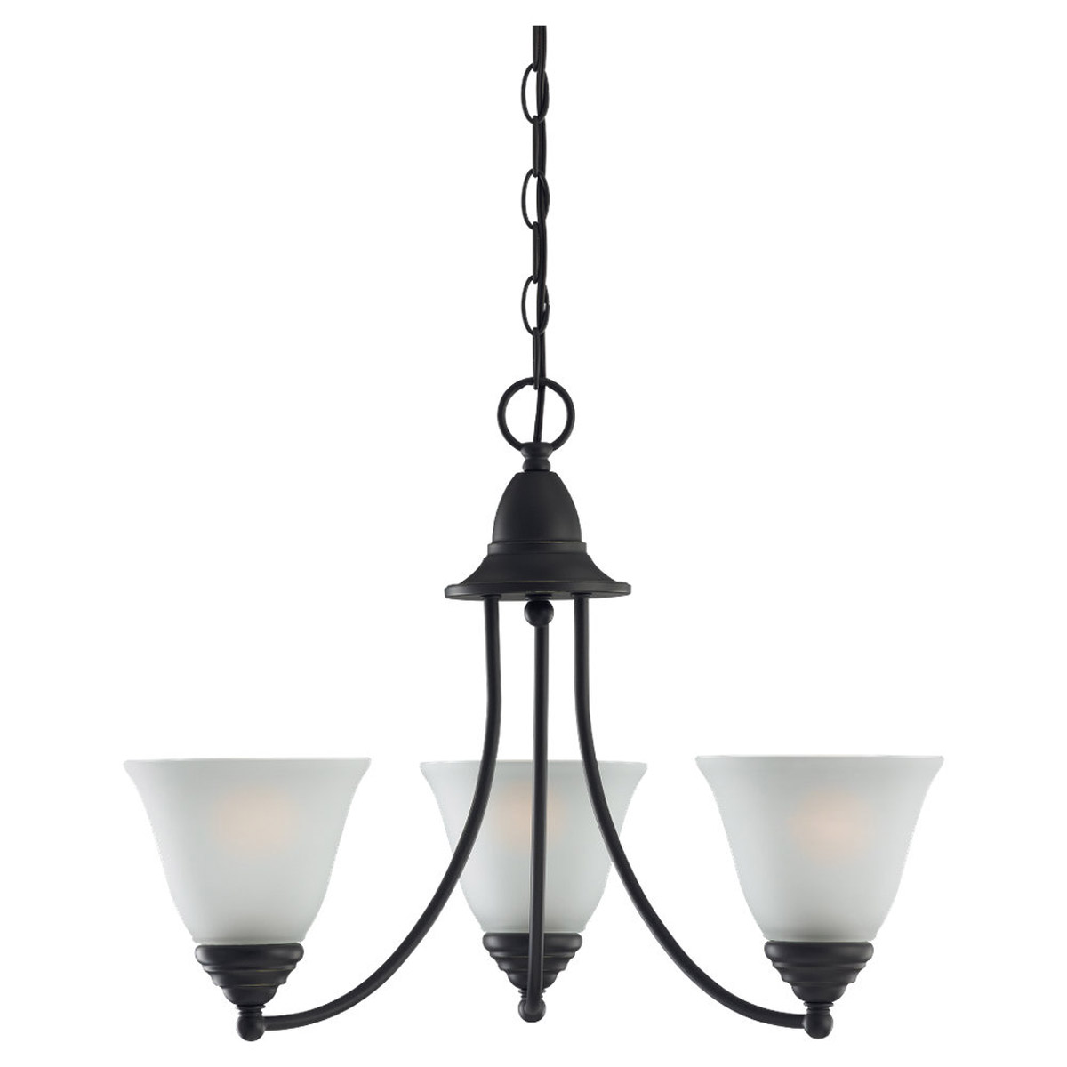 Sea Gull Lighting Albany 3 Light Chandelier in Heirloom Bronze 31575-782