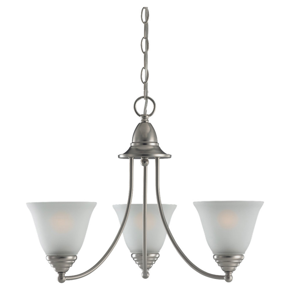 Sea Gull Lighting Albany 3 Light Chandelier in Brushed Nickel 31575-962