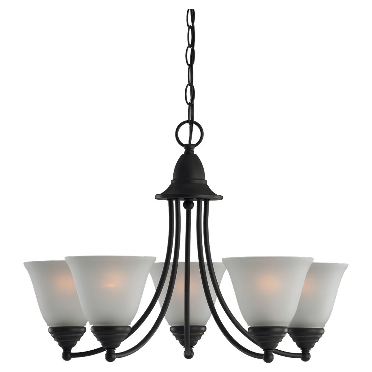 Sea Gull Lighting Albany 5 Light Chandelier in Heirloom Bronze 31576-782
