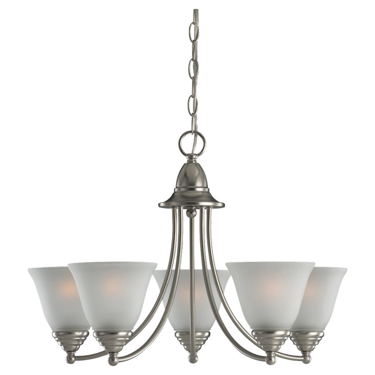 Sea Gull Lighting Albany 5 Light Chandelier in Brushed Nickel 31576-962