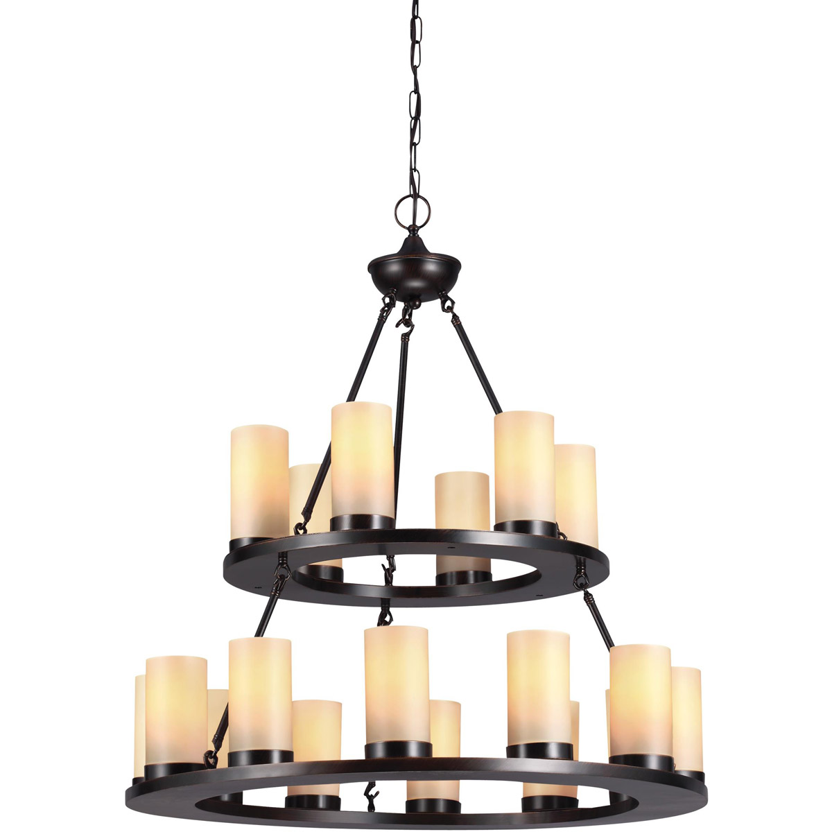 Sea Gull Ellington 18 Light Chandelier Multi-Tier in Burnt Sienna 31585BLE-710