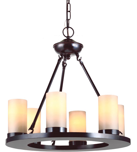 Sea Gull 31586BLE-710 Ellington 6 Light 21 inch Burnt Sienna Chandelier Ceiling Light in Fluorescent photo
