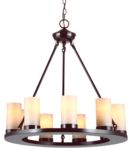 Sea Gull Lighting Ellington Fluorescent 9 Light Chandelier in Burnt Sienna 31587BLE-710