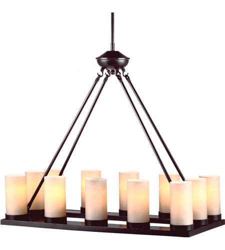 Sea Gull Lighting Ellington Fluorescent 12 Light Chandelier in Burnt Sienna 31588BLE-710 photo