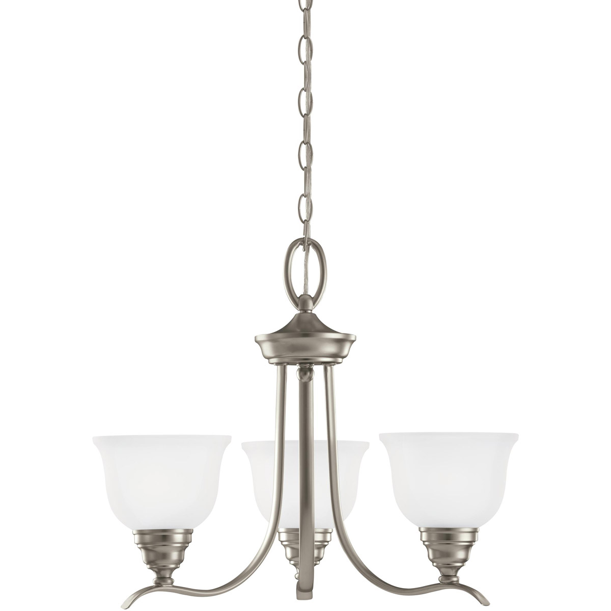 Sea Gull Lighting Wheaton 3 Light Chandelier in Brushed Nickel 31625-962 photo