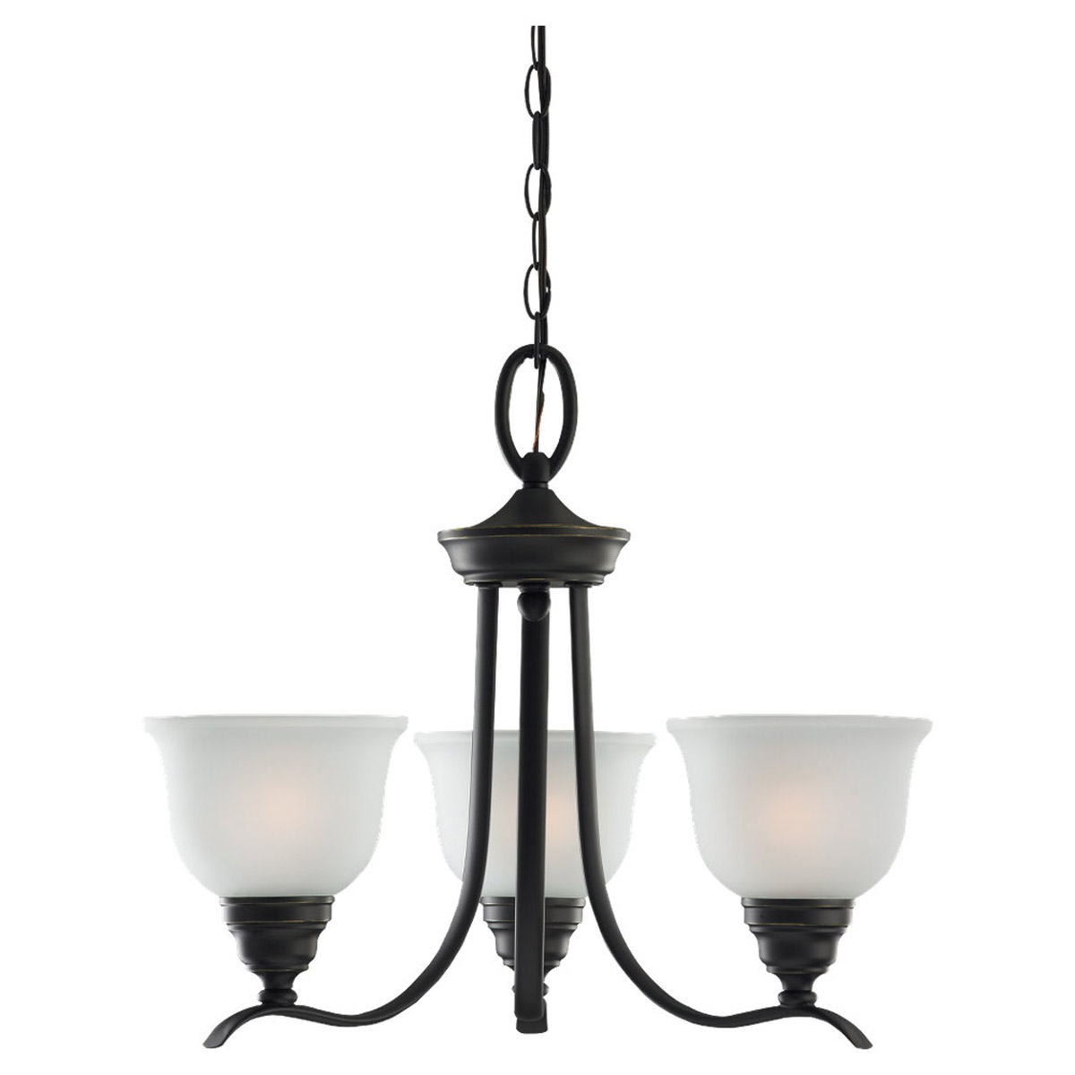 Sea Gull Lighting Wheaton 3 Light Chandelier in Heirloom Bronze 31625BLE-782